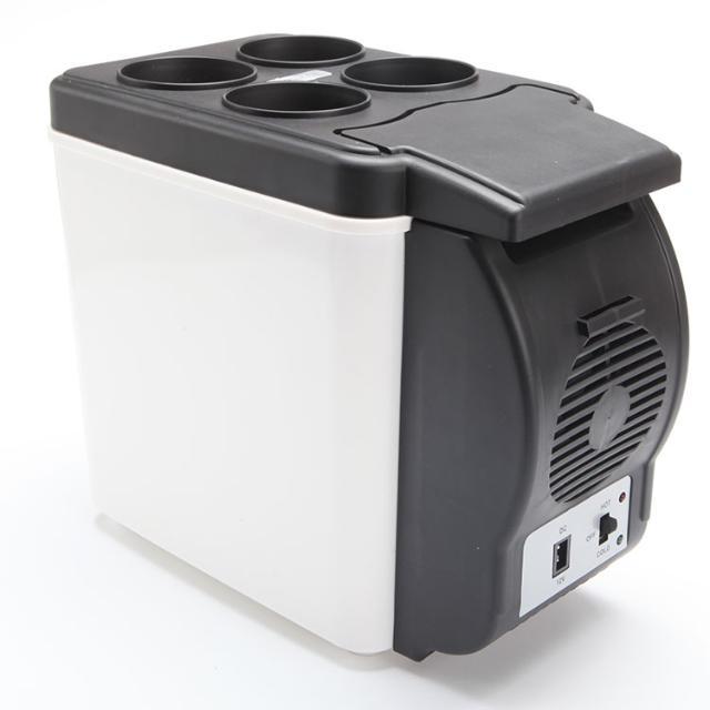 汽车车载冰箱 便携式车用6L冷藏箱保温箱12V 冷暖迷你小冰箱(2017)